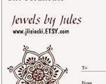 Gift Certificate for Jewels by Jules Shop