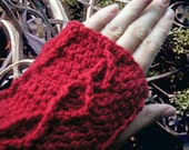 Imladris fingerless gloves - scarlet