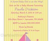 Nautical Girl Baby Shower Invitation (You Print)