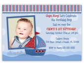 Custom Nautical Sailboat Birthday Party Invitation (Digital File)