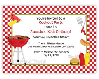Cookout Any Birthday Invitation (You Print)