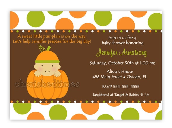 to cute baby pumpkin baby shower invitation you print on etsy