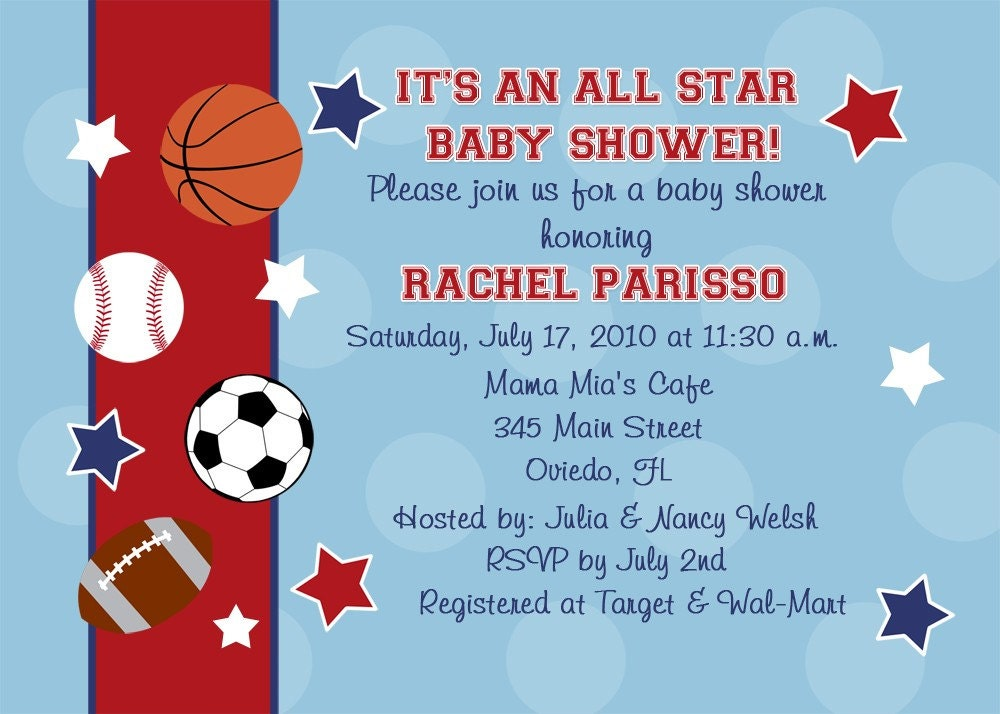 all star sports baby shower or birthday party by cherishedtimes