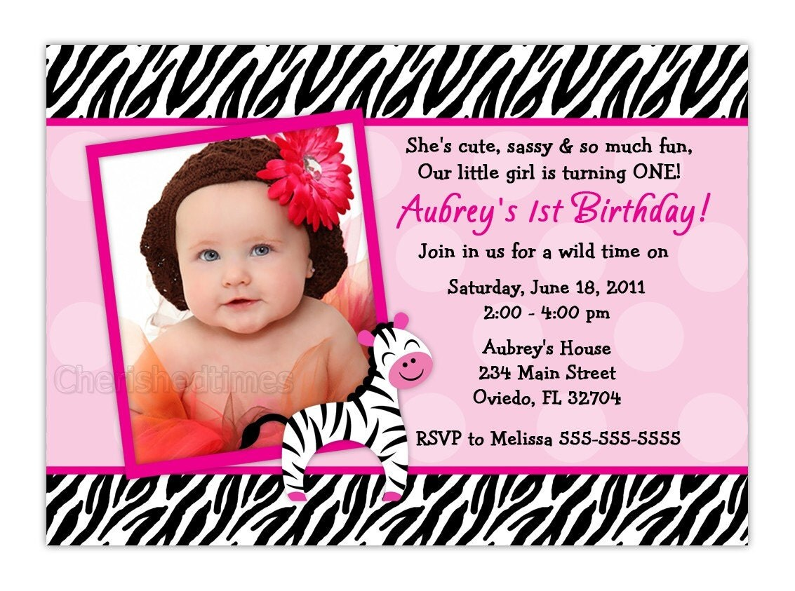 Zebra Birthday Party Invitation Wording ~ Image Inspiration of ...