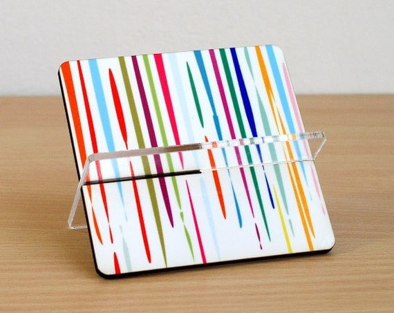 Desk Business card holder, desk accessories organizer, business card, card holder, coworker boss gifts,holiday gift ,colorful dripping paint