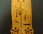 Easter Bookmark with Cross and Lilies
