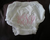 Sweet Baby Bloomers ( Diaper Cover) with Monogram