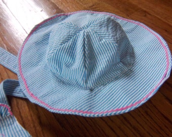 Beach Seersucker Sun Hat to Match Your Swimsuit