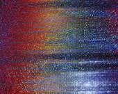 Oil Slick Hologram Stretch Lycra Fabric