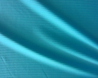 Turquoise RIBBED Stretch Lycra Fabric