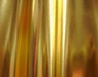 Gold Metallic 4 way stretch Spandex Fabric
