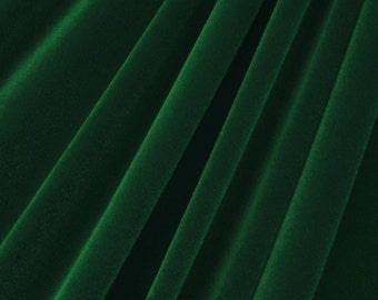 Hunter Green Micro Velvet Stretch Lycra Fabric