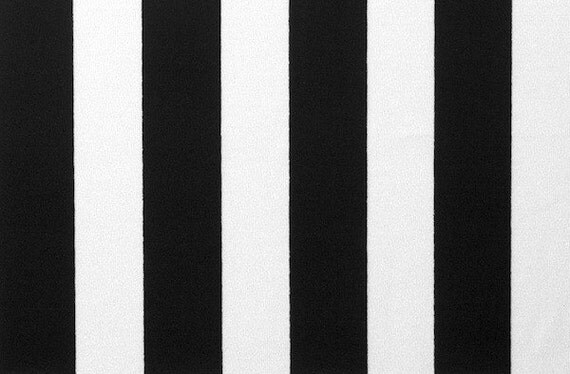 Black And White Stripe Stretch Lycra Fabric 3 Yards For