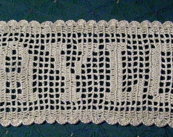 Crochet Patterns Names : Crochet Name Doily