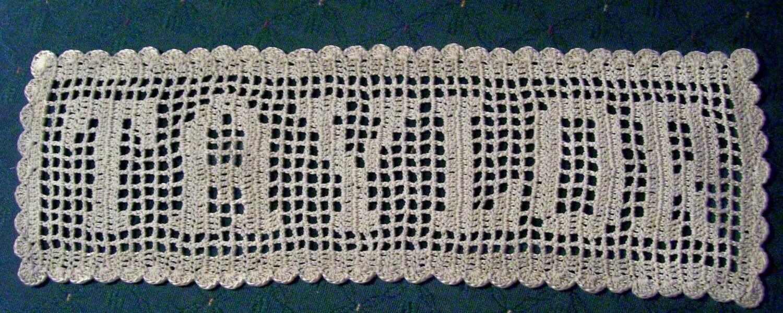 Crochet Name Doily
