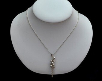 Sterling Silver Bottlebrush Necklace
