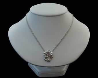 Silver Cluster Necklace - Small