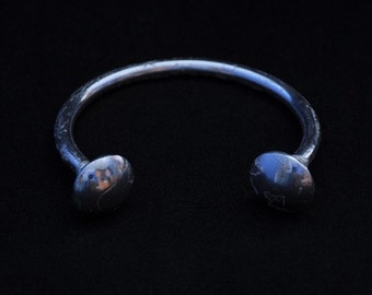 Silver Bangle with Domes