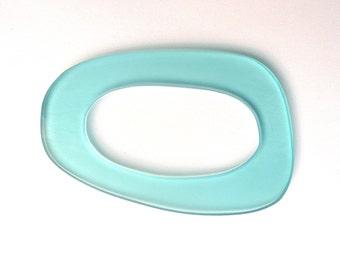 Light Blue Curved Geometric Acrylic Bangle