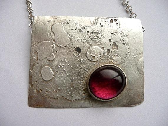 Hot Pink Tourmaline Necklace