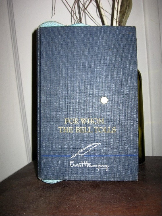 Book Clutch Purse 'For Whom The Bell Tolls' Ernest Hemingway Free Shipping Within the U.S.