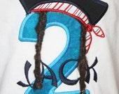 Greatstitch Pirate Shirt 1st 2nd 3rd Birthday Applique