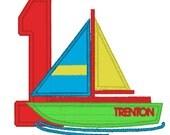 GreatStitch Sailboat 1st Birthday 2nd Birthday 3rd Birthday