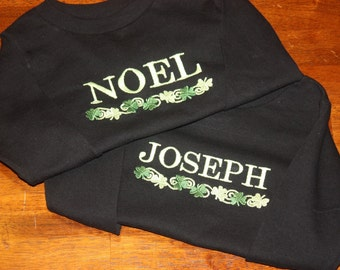 Personalized Shamrock Irish Green and Black Your Name Four Leaf Clover