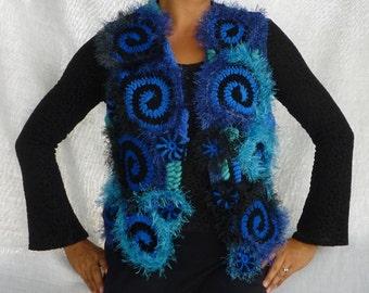 Freeform crochet Vest size S-M