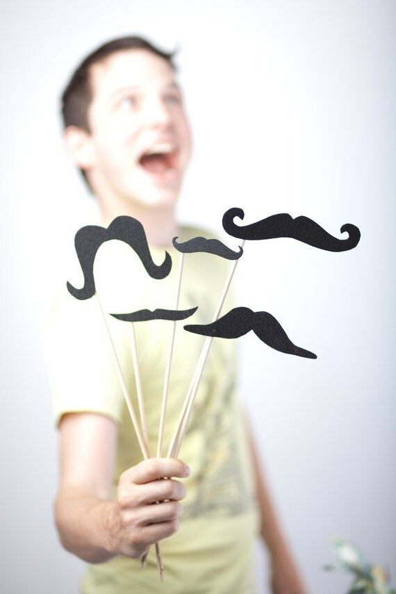 Mustaches on a Stick