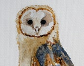 Barn Owl Original Watercolor Painting 10x8""