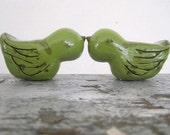 Custom Wedding Lovebirds Cake Topper with Your Initials and Date Carved