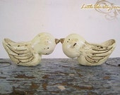 Custom Lovebirds Wedding Cake Topper Personalized with Your Initials and Date