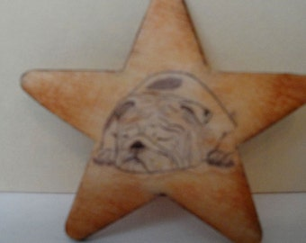 Wooden Star Pin