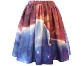 Hubble Print Nebula Space Skirt