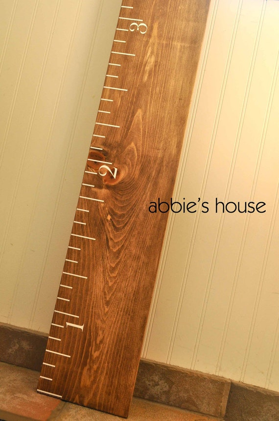 Ruler Growth Chart Kit DIY Project - Ruler growth chart vinyl decal