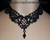 Elegant and Intricate Venise Victorian Gothic Necklace by Medievaltomodern