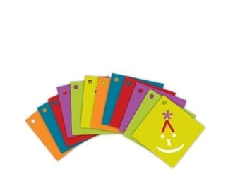 share the SMILEY (set of 12 mini gift tags)