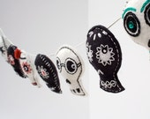 Day of the Dead Sugar Skull decoration garland, Mexican folk art