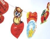 Valentine Garland retro cards