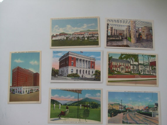In My Mind I'm Goin to Carolina - NC Linen Postcard Lot