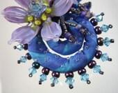 Fiddlehead Floral - Blues & Purples