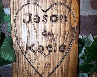 Personalized Couples Name Signs CARVED Custom Wooden Sign Last name Wedding Gift Established Anniversary custom personalized sign