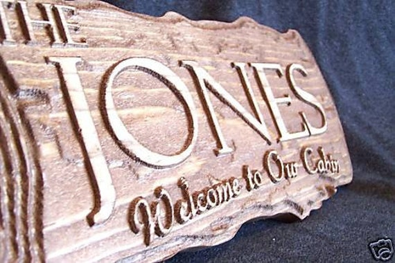 Personalized Sign Custom Carved Wood Wedding Gift Family Last Name Est Couples MAN CAVE Camp Wedding Cabin RV Wood