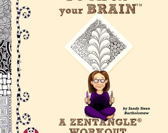 Yoga For Your Brain Zentangle Book SIGNED