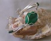 Large Malachite Cuff Bracelet