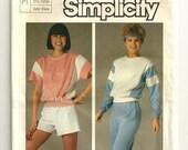 Vintage 1985 UNCUT Women's Sweatsuit Pattern 6906