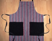 striped apron (PBD0040)