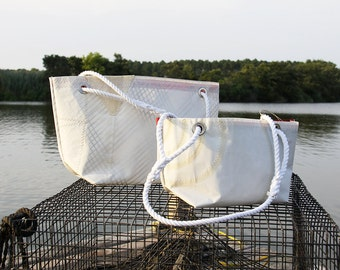 The Nancy Recycled Sailcloth Bag