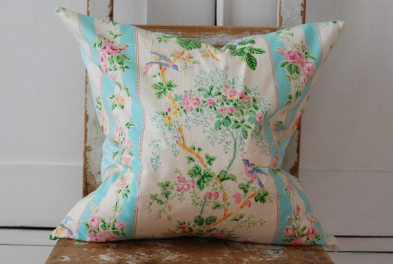 Cottage Pillow, Shabby Chic Pillow Cover, Decorative Pillows,